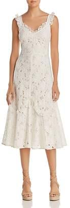 Rebecca Taylor Adriana Lace Midi Dress