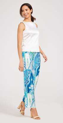 J.Mclaughlin Martine Silk Pants in Moroccan Paisley