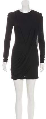 Balmain Long Sleeve Cocktail Dress Black Long Sleeve Cocktail Dress