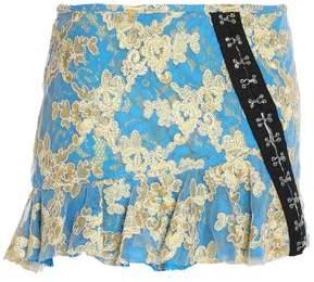 Marques Almeida Marques' Almeida Ruffled Embellished Embroidered Tulle Mini Skirt