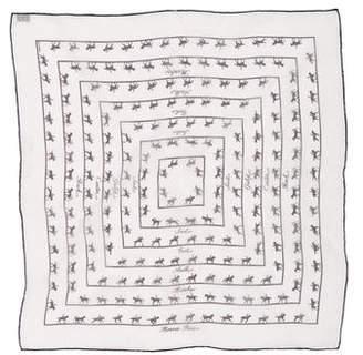 Hermes Allures Silk Mousseline Pocket Square