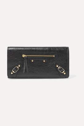 Balenciaga Textured-leather Wallet - Black