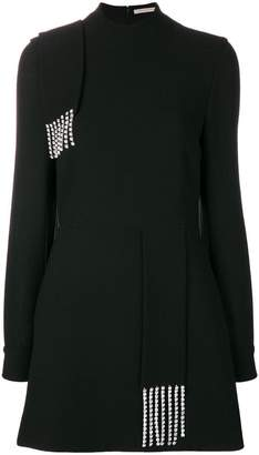 Christopher Kane crystal crepe mini dress