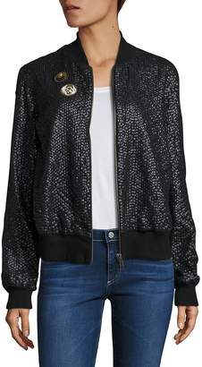 Love Sam Women's French Cup Sequin Bomber Jacket
