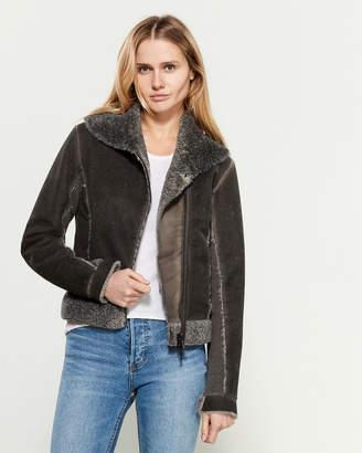 Tandem Faux Fur-Trimmed Shawl Collar Jacket