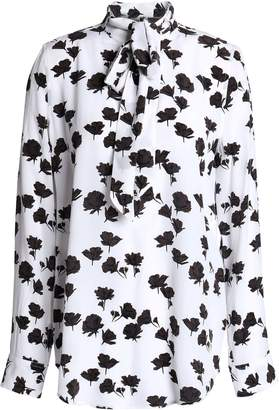 Equipment Carleen Pussy-bow Floral-print Silk Crepe De Chine Blouse