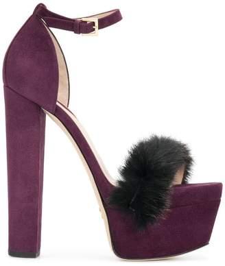 Elie Saab Opera platform sandals