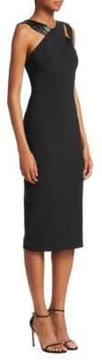 Theia Sleeveless Cross Strap Bodycon Dress