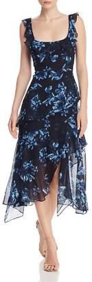 BCBGMAXAZRIA Divine Bloom Tiered Dress
