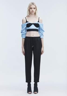 Alexander Wang JACQUARD SILK TRACK PANTS PANTS