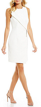DKNY DKNY Envelope-Collar Sheath Dress