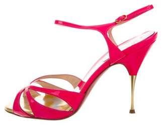 Christian Louboutin Patent Multistrap Sandals