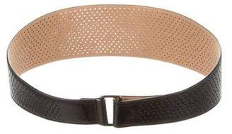 Alaia Perforated Leather Belt w/ Tags