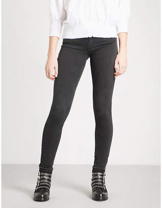 Maje Released-hem skinny low-rise jeans