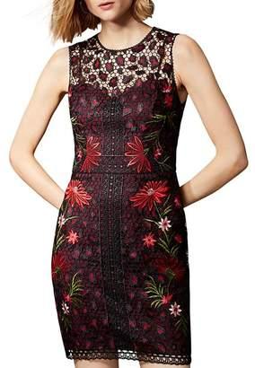 Karen Millen Leopard Floral Lace Dress