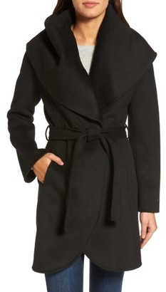 Women's Tahari Marla Double Face Wool Blend Wrap Coat $238 thestylecure.com
