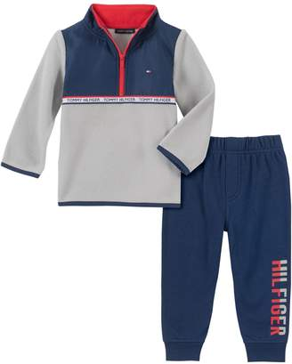 Tommy Hilfiger Baby Boy's 2-Piece Fleece Pullover Cotton-Blend Fleece Jogger Pants Set