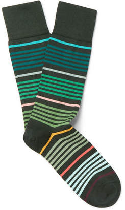 Paul Smith Striped Stretch Cotton-Blend Socks