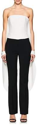 Osman Women's Xenia Crepe Cape-Sleeve Corset