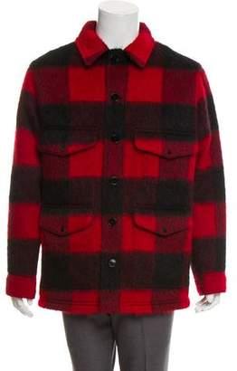 Valentino Wool Blend Buffalo Plaid Jacket