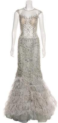 Terani Couture Embellished Evening Dress