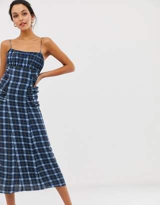 C/Meo Collective define check slip dress
