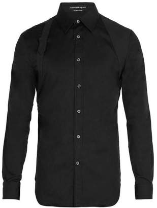 Alexander McQueen Harness Cotton Blend Shirt - Mens - Black