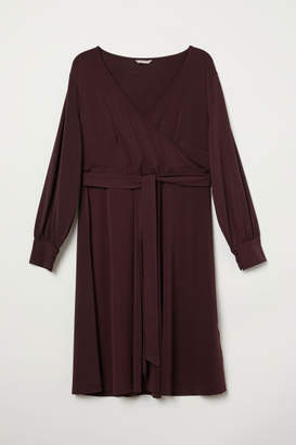 H&M H&M+ Creped Wrap-front Dress - Red