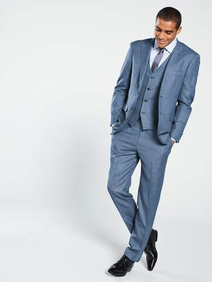 Skopes PesaroTextured Weave Suit Jacket- Blue