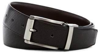 Steve Madden Perforated Reversible Leather Belt