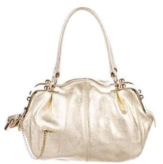 Dolce & Gabbana Gold Metallic Karen Frame Bag