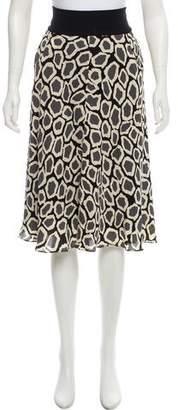 Diane von Furstenberg Geometric Print Knee-Length Skirt
