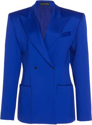 David Koma Oversized Virgin Wool Tailored Jacket