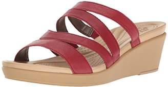 Crocs Women's Leighann Mini Lthr Wedge Sandal