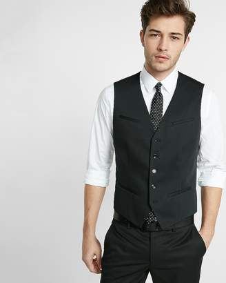 Express Black Cotton Suit Vest