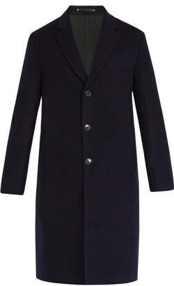 Paul Smith Wool Blend Overcoat - Mens - Navy
