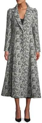 Co One-Button Jacquard Princess Coat