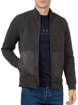 Ted Baker Narn Waffle-Knit Quilted Zip Jacket