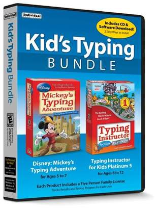 INDIVIDUAL SOFTWARE Kid's Typing Bundle: Mickey's Typing Adventure & Typing Instructor for Kids, Individual Software, 018527111116