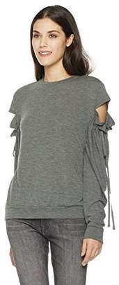 Painted Heart Women's Long Cut-Out Sleeve Knit Tee X Small