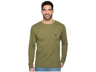 U.S. Polo Assn. Long Sleeve Crew Neck Pocket T-Shirt Men's Clothing