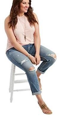 3bee99e2d832 Silver Jeans Co. Women s Plus Size Suki Curvy Fit Mid Rise Ankle Slim Jeans