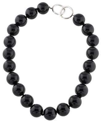 Tiffany & Co. Onyx Bead Strand Necklace