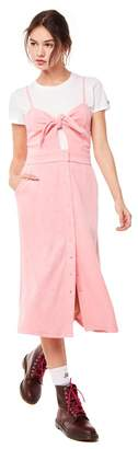 Juicy Couture Microterry Tie Front Maxi Dress
