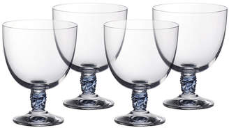 Villeroy & Boch Montauk Aqua White Wine, Set of 4