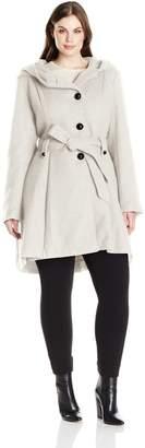 Steve Madden Women's Single Breasted Wool Blend Coat