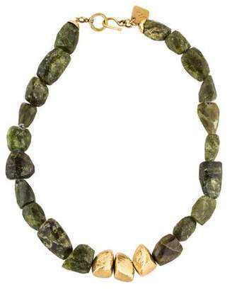 Ashley Pittman Tumba Rocky Peridot Bead Strand Necklace
