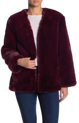 Moon River Faux Fur Plush Jacket