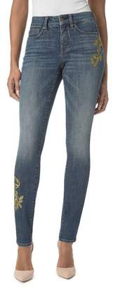 NYDJ Alina Embroidered Legging Jeans in Desert Gold