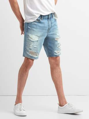"Gap 10"" Destructed Denim Shorts in Slim Fit"